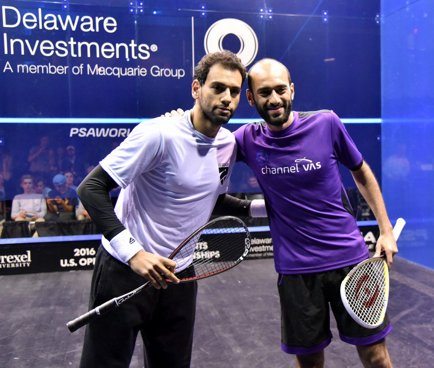 Brothers Mohamed and Marwan ElShorbagy at the US Open