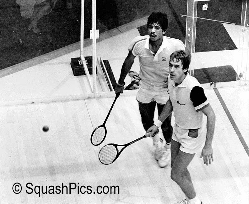 Jahangir Khan and Geoff Hunt