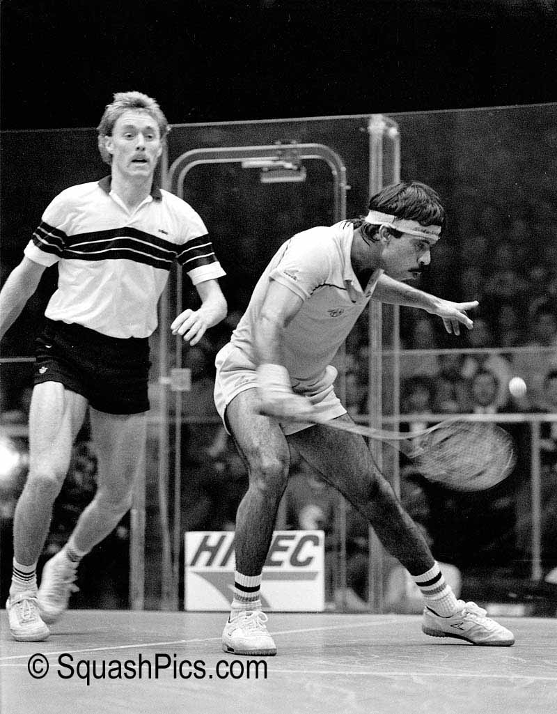 Jahangir Khan and Ross Norman