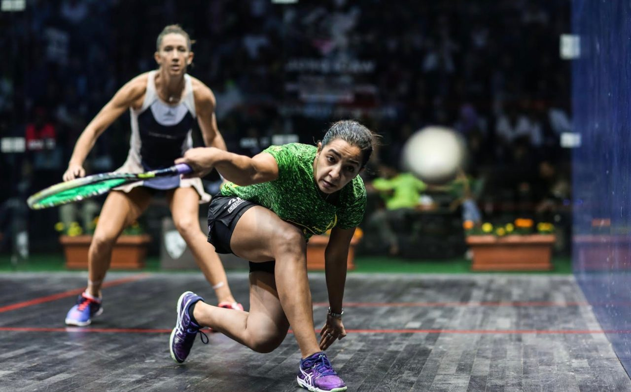 Raneem El Welily gets low on the ball at Wadi Degla