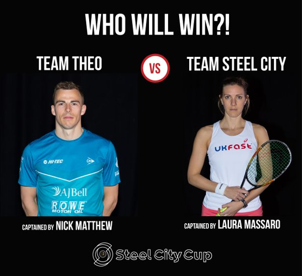 Charity rivals: Nick Matthew and Laura Massaro