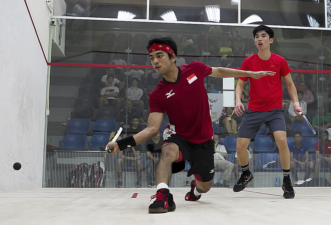Samuel Kang (front) gave a respectable performance