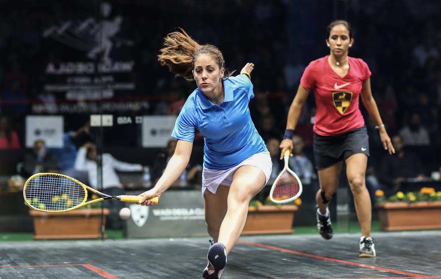 Tesni Evans in action in Cairo