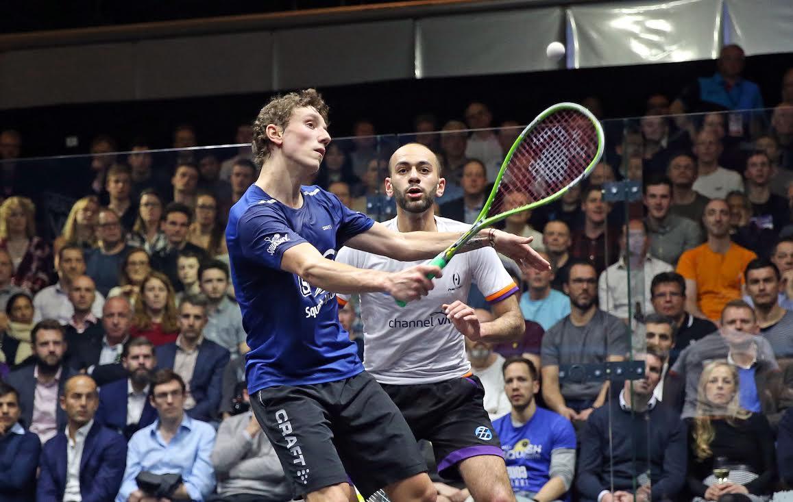 Squash Mad Lucas Serme sinks Marwan Elshorbagy at Canary Wharf