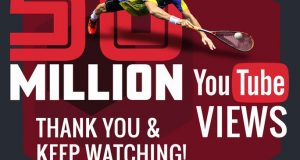 PSA SquashTV passes 50 million viewers on YouTube