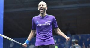 "Marwan celebrates ""my first proper win over Ramy"""