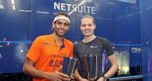 Sarah-Jane Perry and Mohamed ElShorbagy win by the Bay