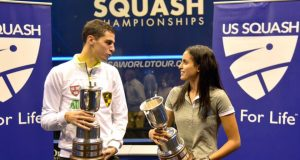 Husband and wife Ali Farag and Nour El Tayeb win US Open titles