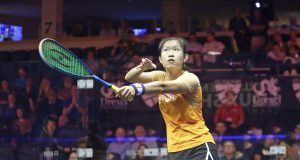 Hong Kong's Au stuns eight-time world champion Nicol David to reach U.S. Open last eight