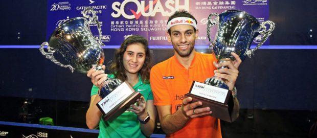 Nour El Sherbini and Mohamed ElShorbagy win Hong Kong titles