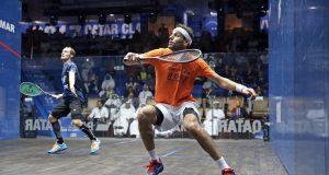 Mohamed ElShorbagy meets Tarek Momen in Qatar final