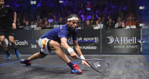 Tight at the top as Mohamed ElShorbagy advances on Gregory Gaultier