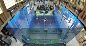 The magic of the glass court powers squash in Poland