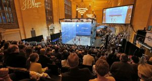 On-screen data will show how hard squash players work