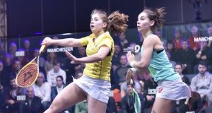 Tesni Evans tackles Laura Massaro in Nationals
