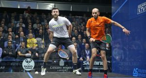 Marwan ElShorbagy meets big brother Mohamed in Canary Wharf semi-finals