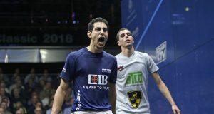 Mohamed ElShorbagy meets Tarek Momen in Canary Wharf final