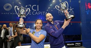 Raneem El Welily and Marwan ElShorbagy win El Gouna titles