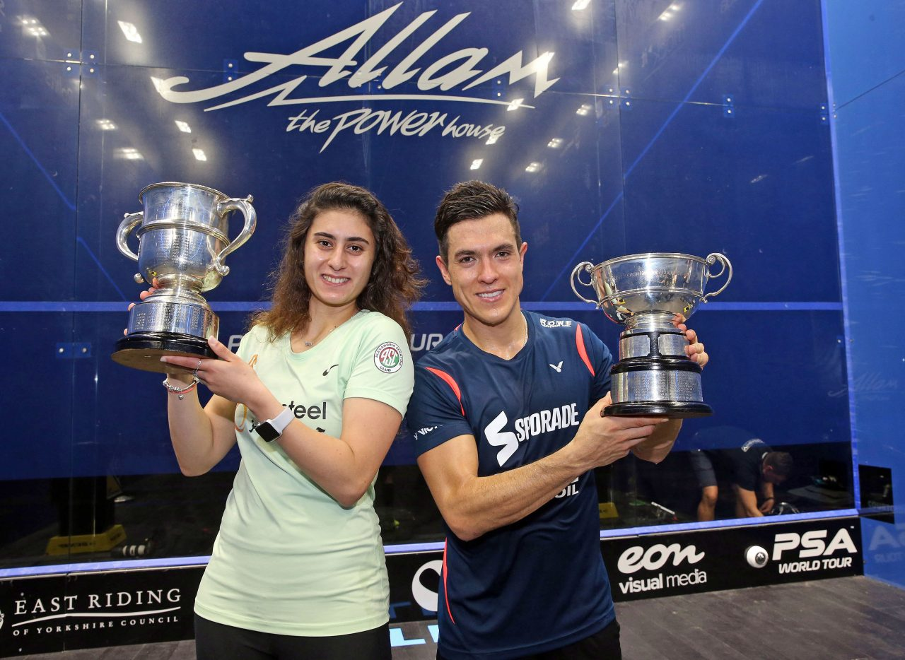 squash mad allam british open  colombia u2019s miguel rodriguez and egypt u2019s nour el sherbini claim