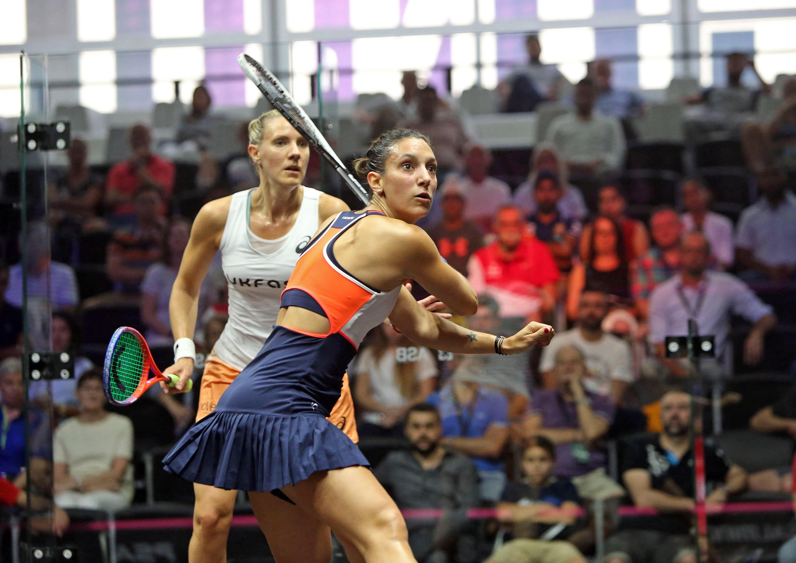 Squash Mad Defending champion Laura Massaro crashes out of
