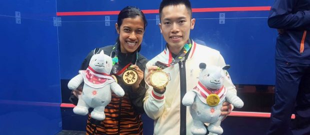 Nicol and Leo win Asian Games titles