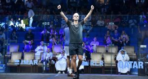 Diego Elias ejects Mohamed ElShorbagy in Qatar