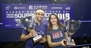 Joelle King and Mohamed ElShorbagy win Hong Kong finals in straight games