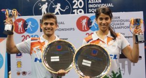 Asian double for India's Saurav Ghosal and Joshna Chinappa