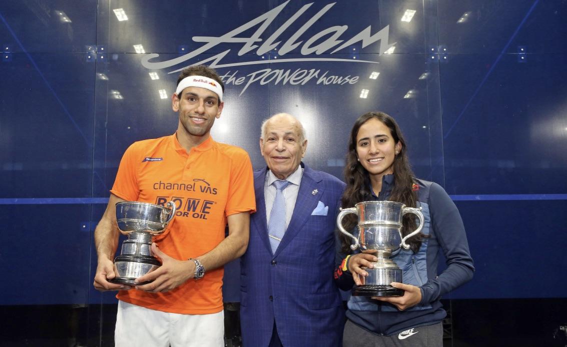 Third British Open title for Mohamed ElShorbagy and a first for Nouran Gohar