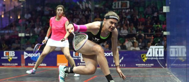 Sarah-Jane Perry sinks reigning champion Nour El Sherbini in Cairo