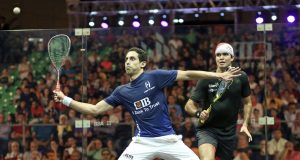 World champions Ali Farag and Nour El Sherbini crash out in Cairo