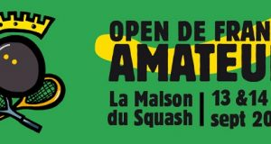 Opportunity to become the Amateur French Open Squash Champion