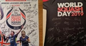 Last chance to bid for amazing memorabilia in World Squash Day Auction