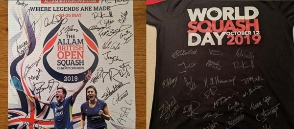 Auction of squash collectables set to raise funds for the PSA Foundation