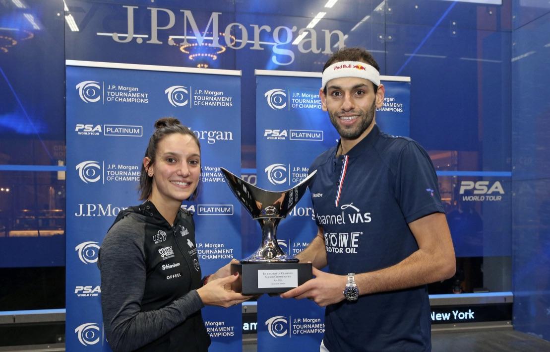 Camille Serme and Mohamed ElShorbagy take ToC titles