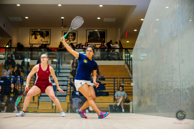 Top seeds march through on day one of College Women's Team Championship - Squash Mad