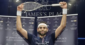 Mohamed ElShorbagy wins Canary Wharf title before virus ban stops squash