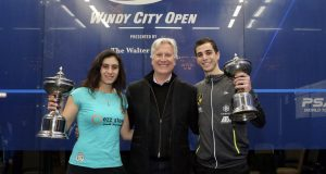 Drama as Ali Farag and Nour El Sherbini storm to Windy City Open titles