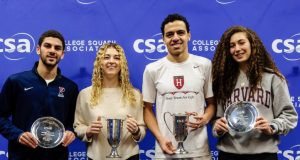 Gina Kennedy and Marwan Tarek make it a Harvard double in College Individual finals