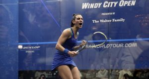 From the Pyramids to the chandeliers of Chicago and New York, Camille Serme takes centre stage in squash's great dramas