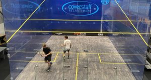 Home advantage pays off for Arscott and Chileshe on day one of squash's brave new world